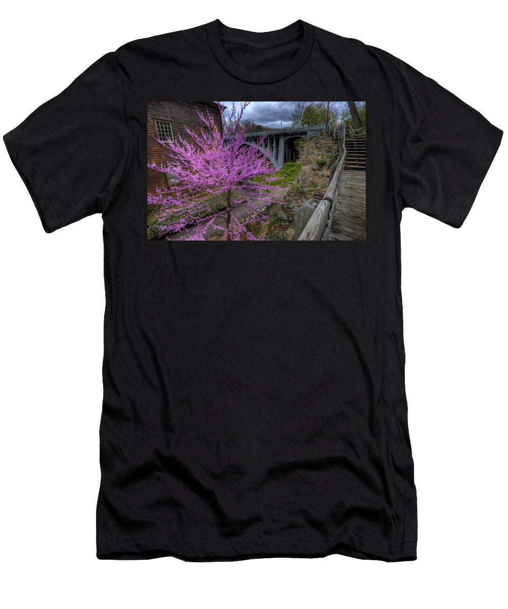Spring Men's T-Shirt (Athletic Fit) featuring the photograph Spring At The Mill by David Dufresne