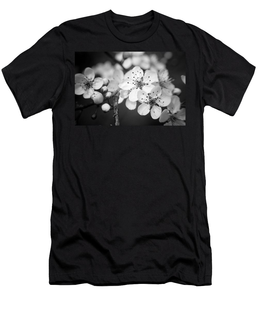 B&w Men's T-Shirt (Athletic Fit) featuring the photograph Spring Blooms 6690 by Timothy Bischoff