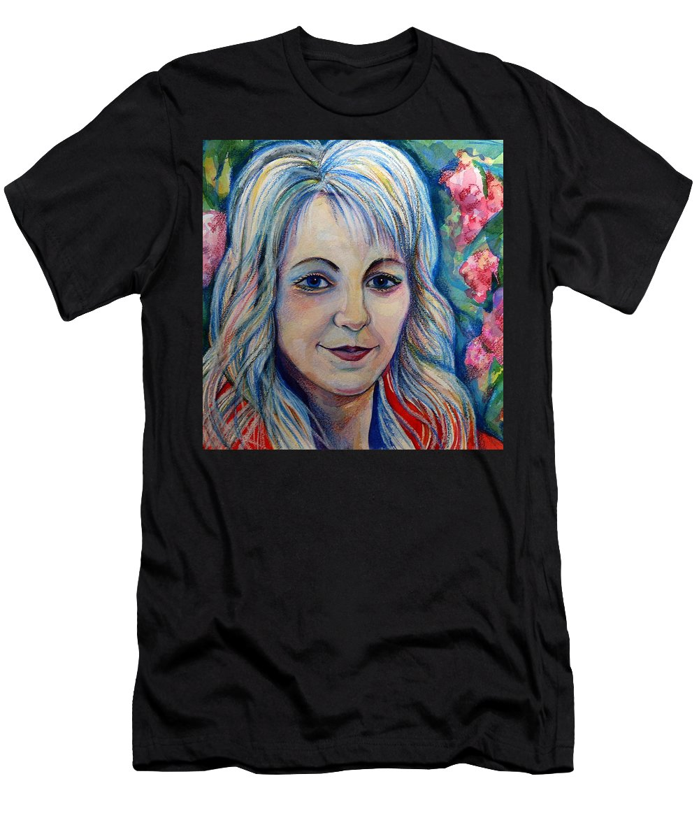 Spring Gils Men's T-Shirt (Athletic Fit) featuring the drawing Spring Girls. Part Two by Anna Duyunova
