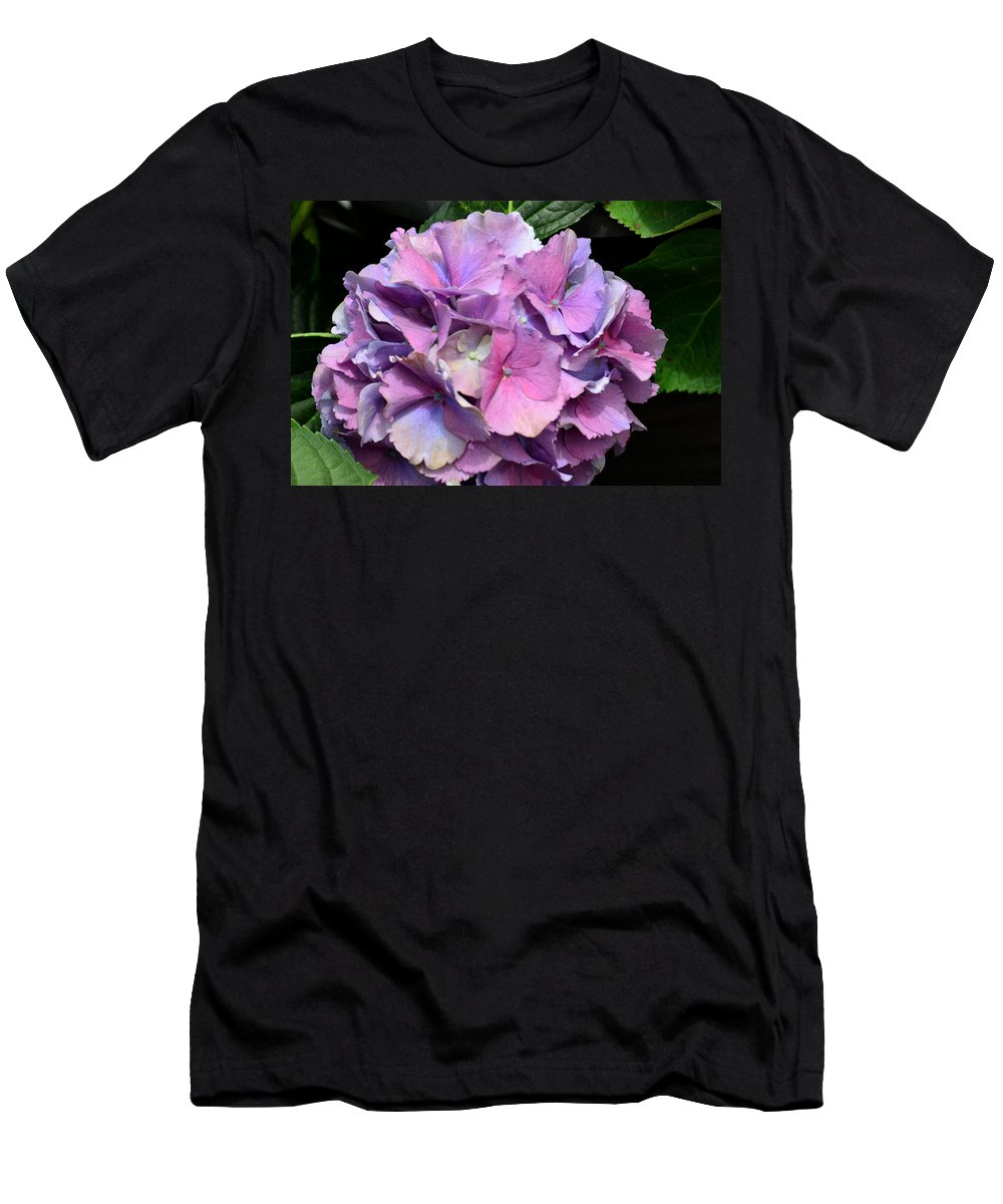 Spring Hydrangea Men's T-Shirt (Athletic Fit) featuring the photograph Spring Hydrangea 2013 by Maria Urso