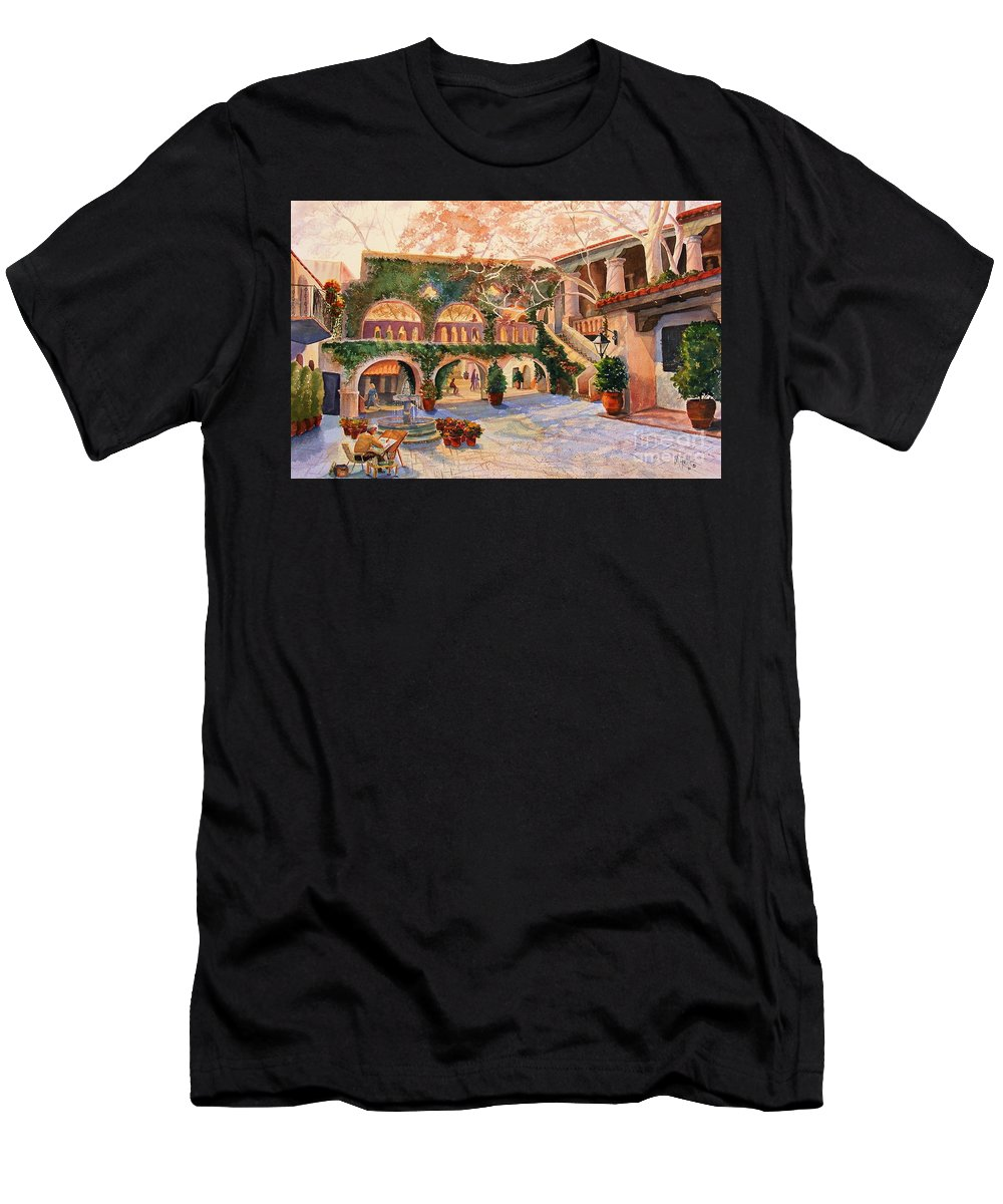 Sedona Men's T-Shirt (Athletic Fit) featuring the painting Spring In Tlaquepaque by Marilyn Smith
