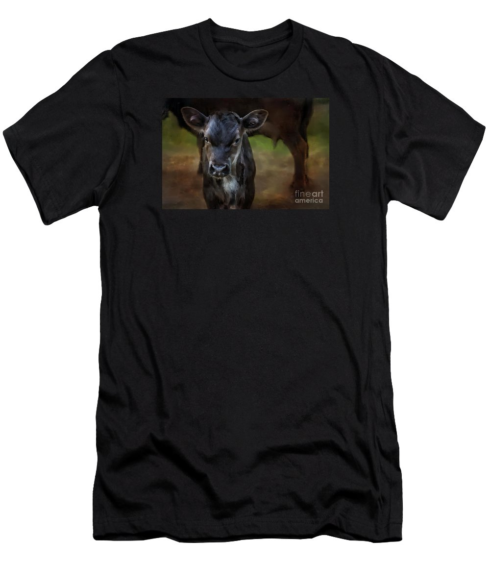 Equine Fine Art Men's T-Shirt (Athletic Fit) featuring the photograph Spring Is Here by Annette Coady