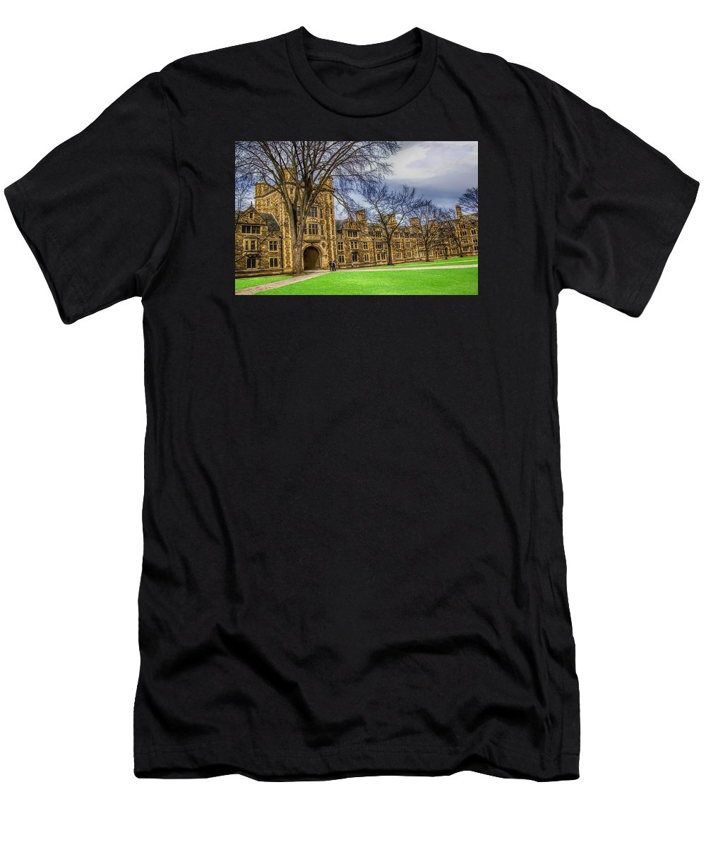 Spring Men's T-Shirt (Athletic Fit) featuring the photograph Spring On The Law Quad by Pat Cook