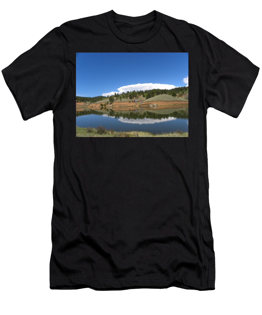 Burgess Men's T-Shirt (Athletic Fit) featuring the photograph Ridge Over Burgess Res Divide Co by Margarethe Binkley