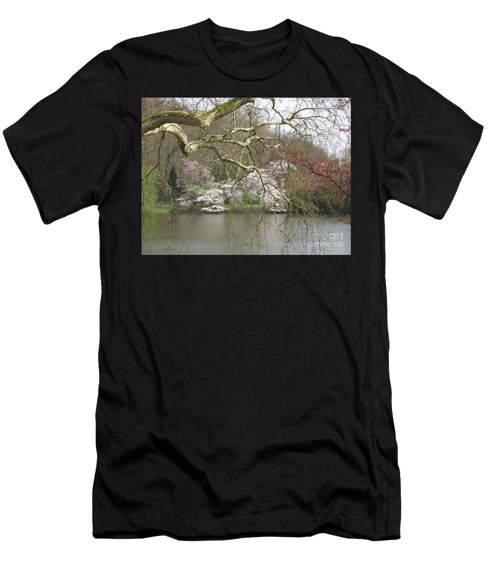 Pond Men's T-Shirt (Athletic Fit) featuring the photograph Springtime At The Pond by Christiane Schulze Art And Photography