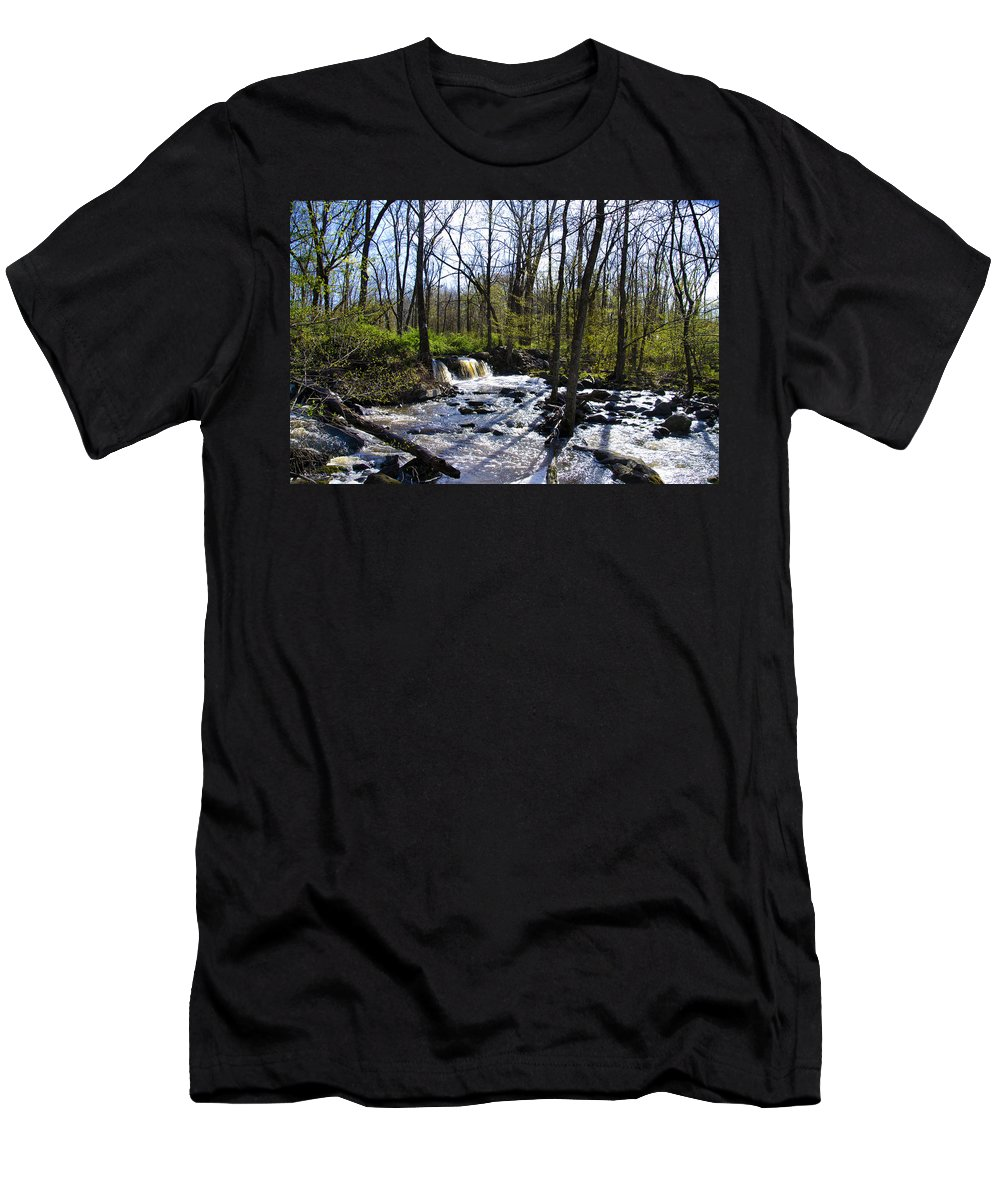 Springtime Men's T-Shirt (Athletic Fit) featuring the photograph Springtime In The Mountains by Bill Cannon