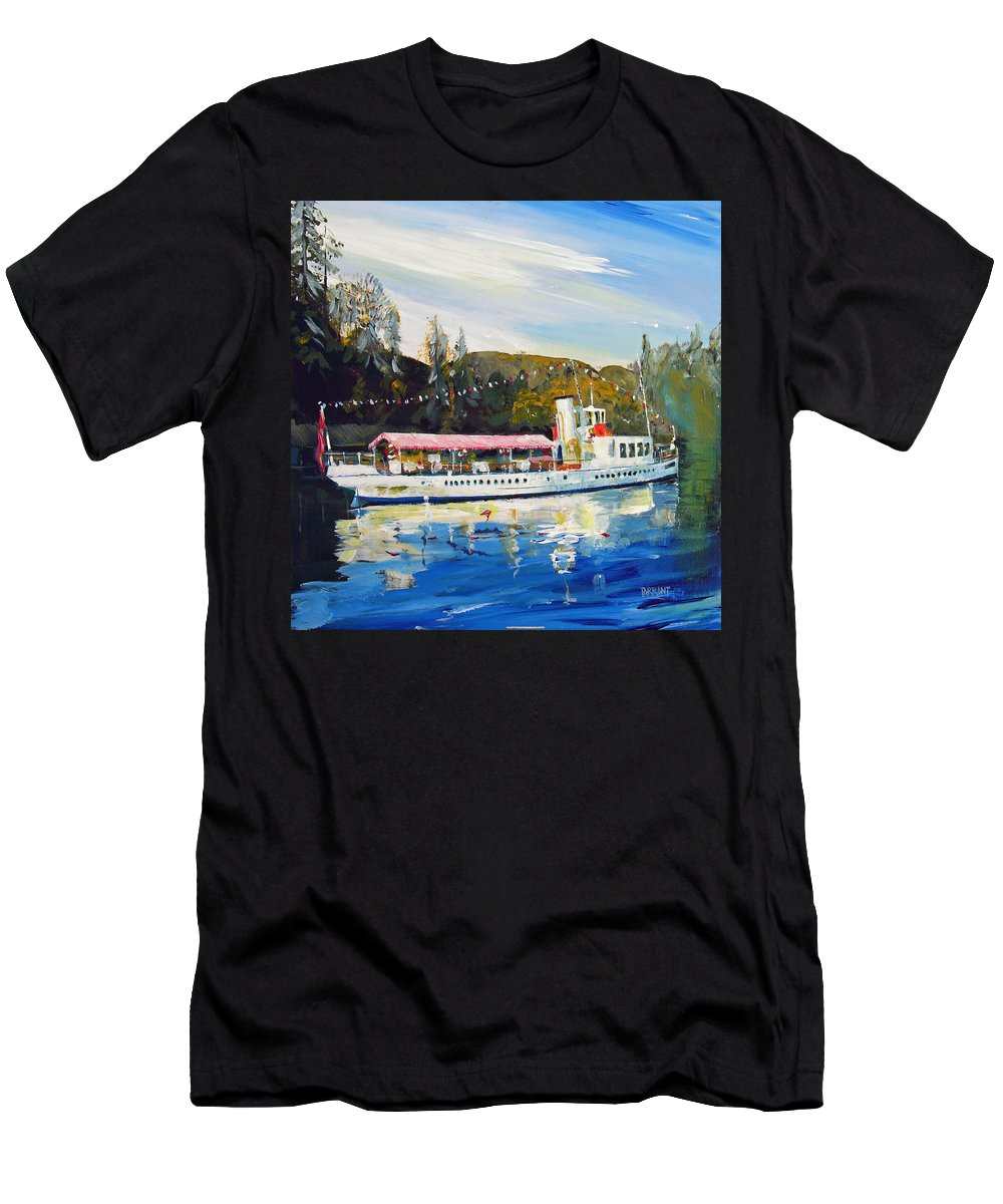 Sir Walter Scott Men's T-Shirt (Athletic Fit) featuring the painting Ss Sir Walter Scott by Peter Tarrant