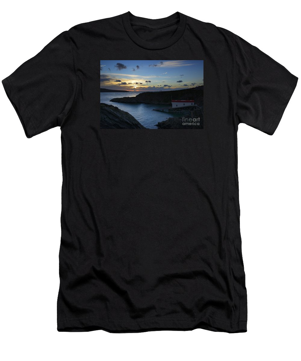 Doug Men's T-Shirt (Athletic Fit) featuring the photograph St Justinian Sunset by Doug Wilton