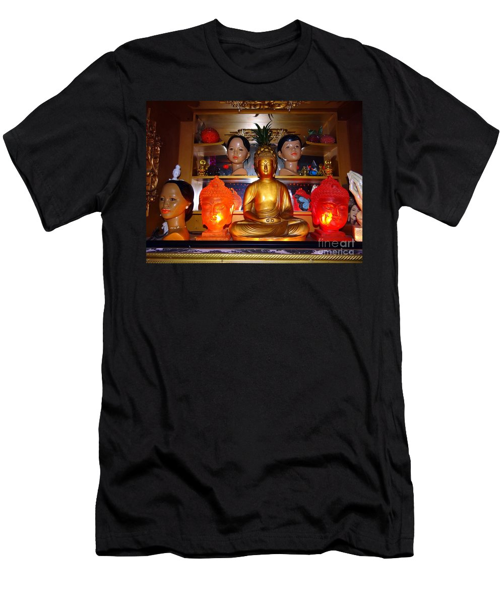 Dolls Men's T-Shirt (Athletic Fit) featuring the photograph St Marks Altar by Ed Weidman