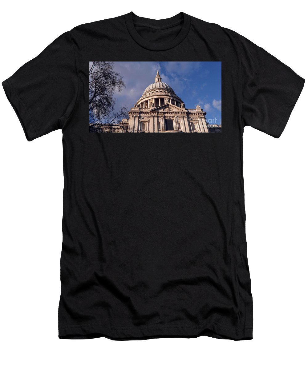 Saint Men's T-Shirt (Athletic Fit) featuring the digital art St Paul's Cathedral by David Voutsinas