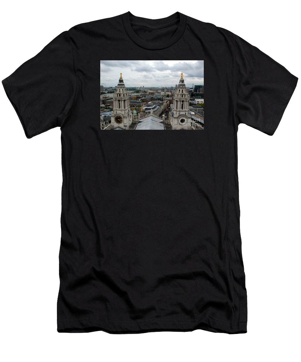 St Paul's Cathedral London Men's T-Shirt (Athletic Fit) featuring the photograph St Paul's View by Richard Gibb