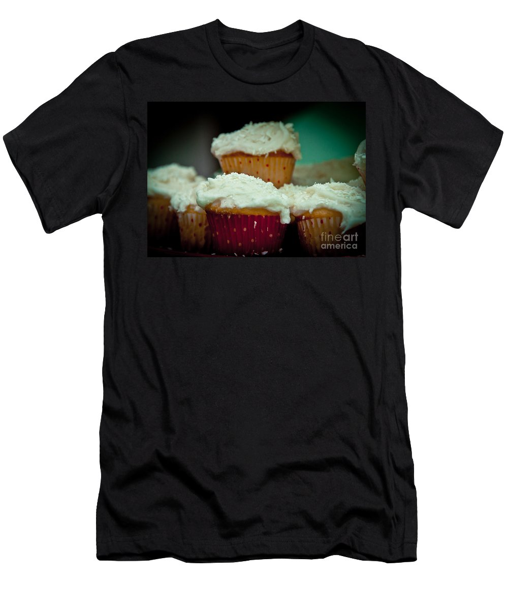 Cake Men's T-Shirt (Athletic Fit) featuring the photograph Stacked Delights by Cheryl Baxter