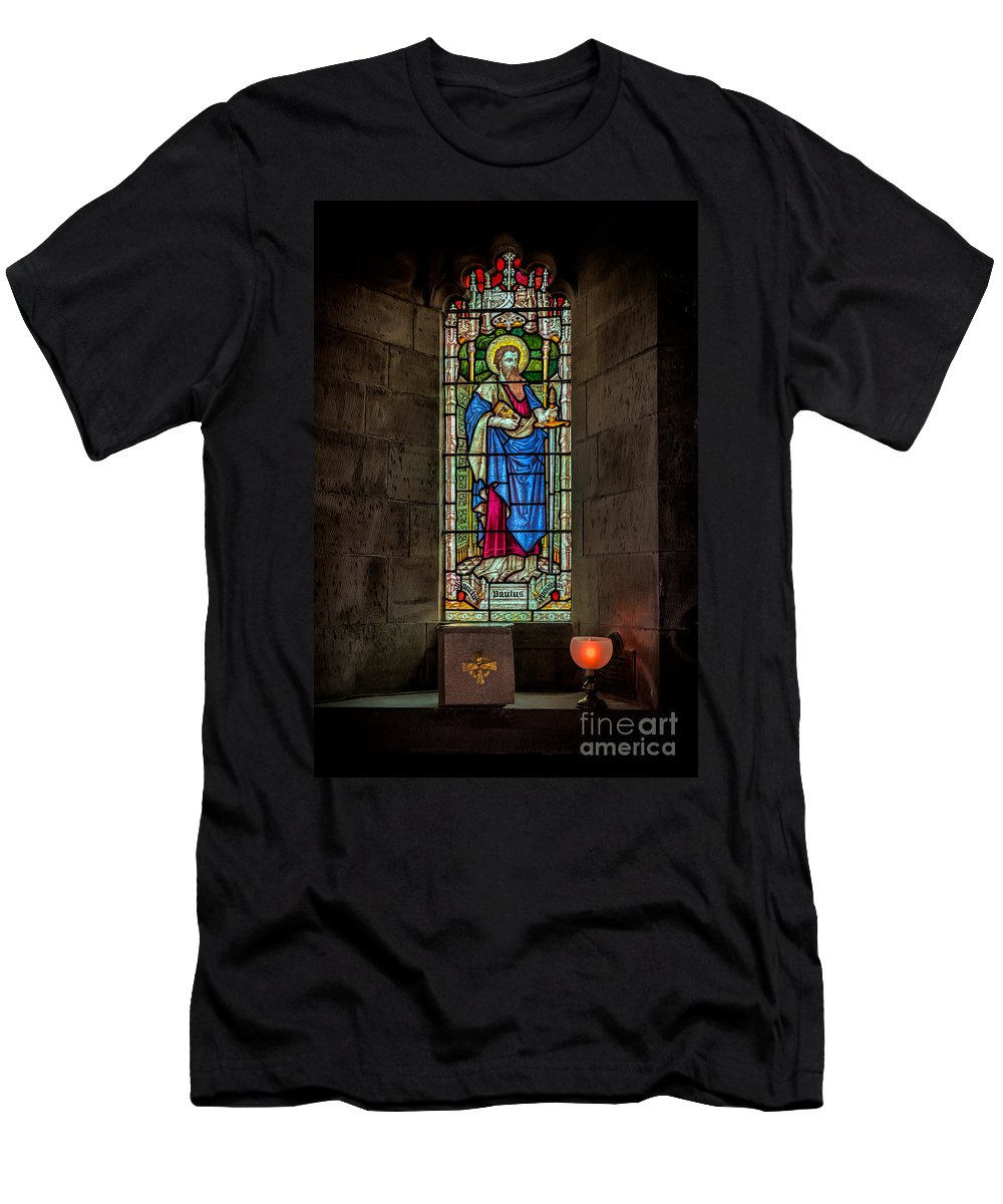 British Men's T-Shirt (Athletic Fit) featuring the photograph Stained Glass Window by Adrian Evans