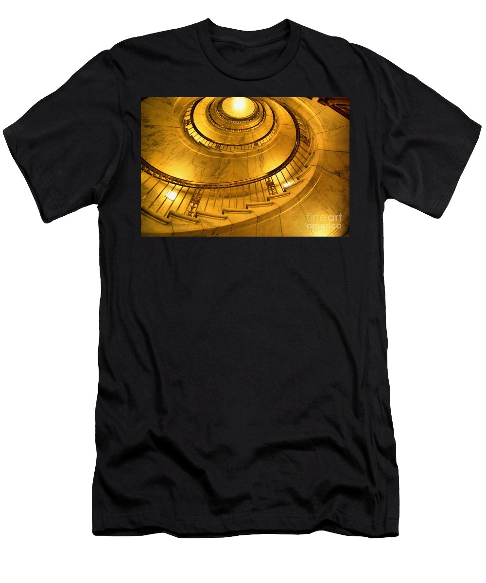 Gold Men's T-Shirt (Athletic Fit) featuring the photograph Stair Way To Justice by John S