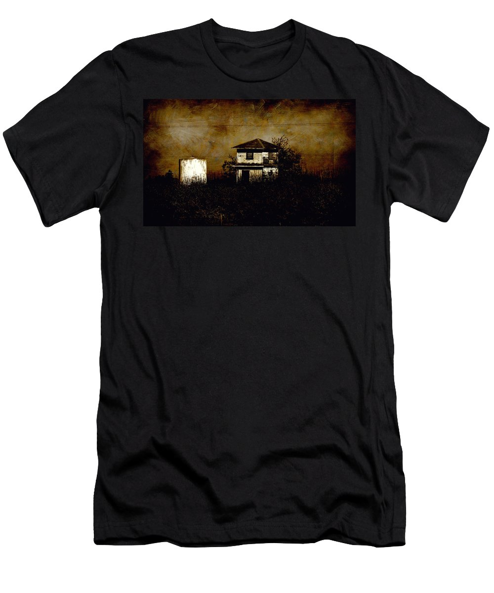 Farm House Men's T-Shirt (Athletic Fit) featuring the photograph Standing Out Two by Shawn McMillan