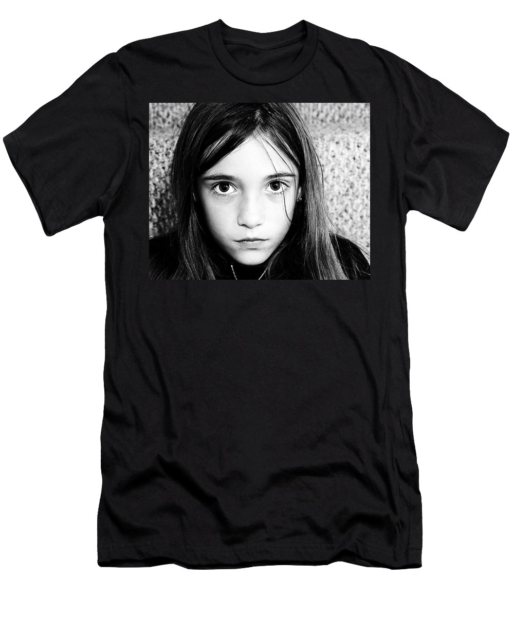 Girl Men's T-Shirt (Athletic Fit) featuring the photograph Stare by Gene Tatroe