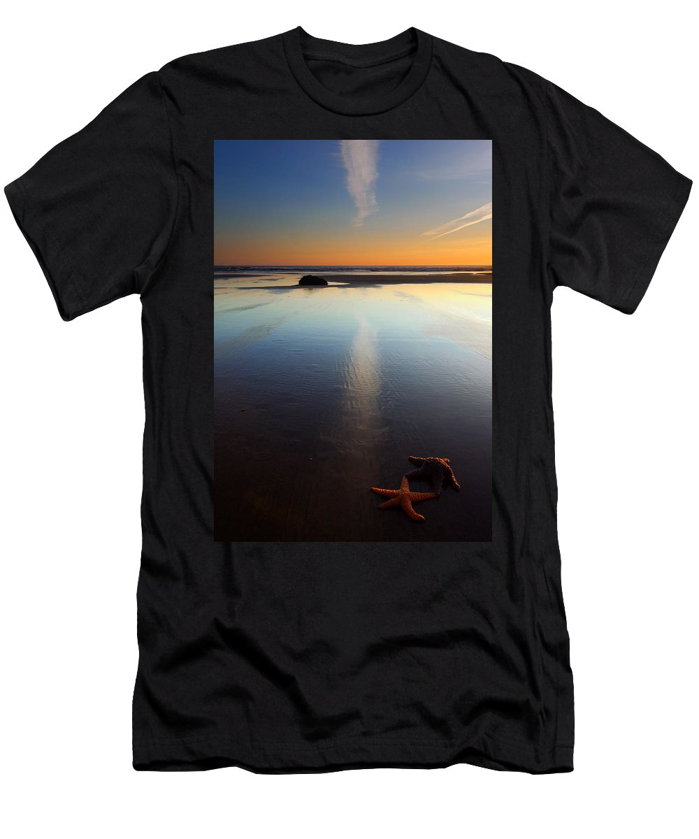 Starfish T-Shirt featuring the photograph Starfish Sunset by Mike Dawson