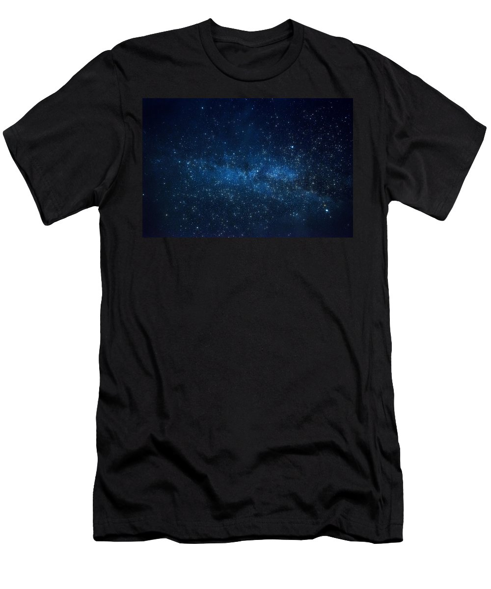 Stars Men's T-Shirt (Athletic Fit) featuring the photograph Starry Starry Night by Saija Lehtonen