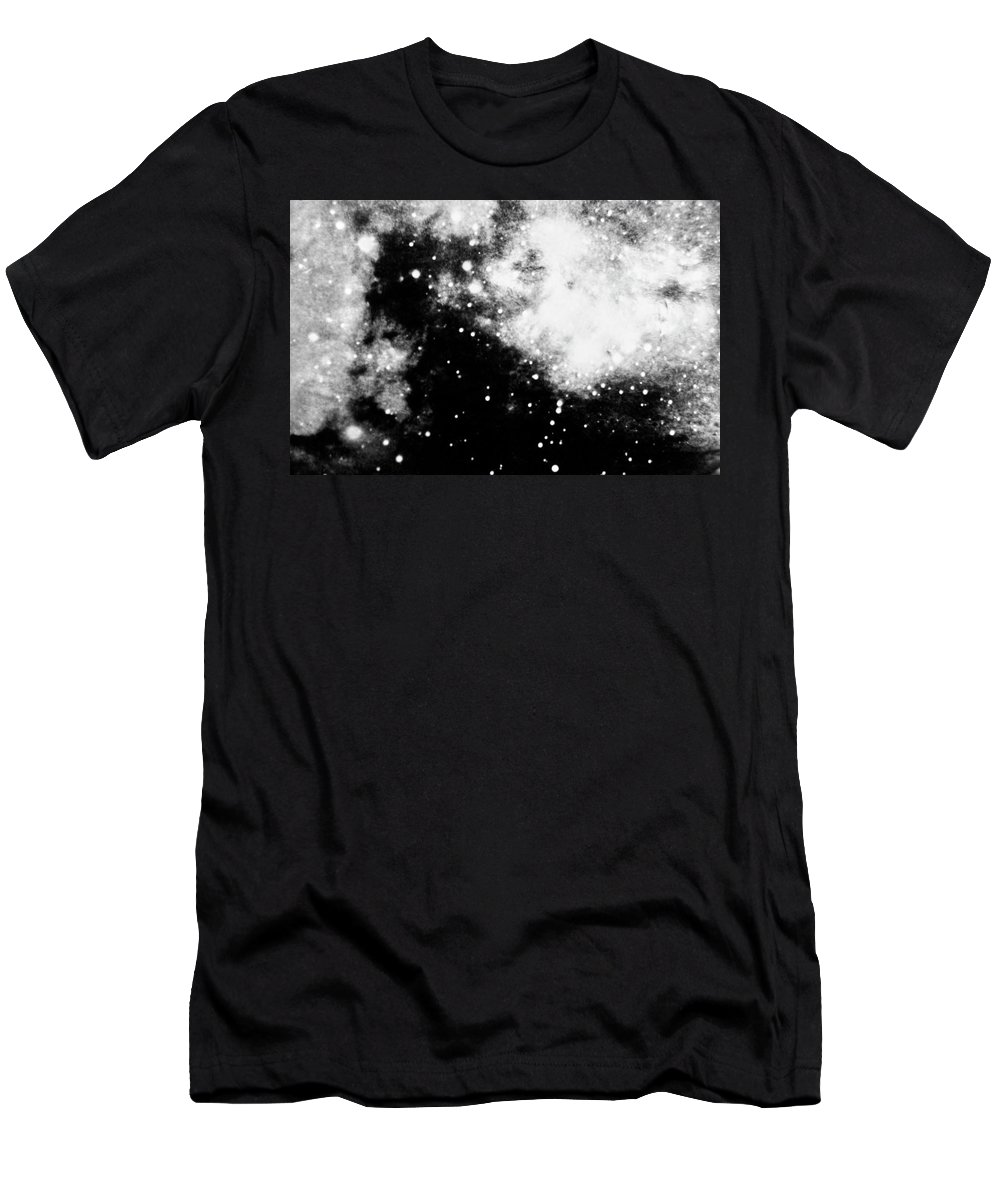 Art T-Shirt featuring the photograph Stars And Cloud-like Forms In A Night Sky by Duane Michals