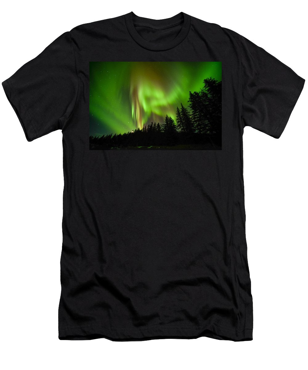 Aurora Men's T-Shirt (Athletic Fit) featuring the photograph Stars And Stripes by Ted Raynor