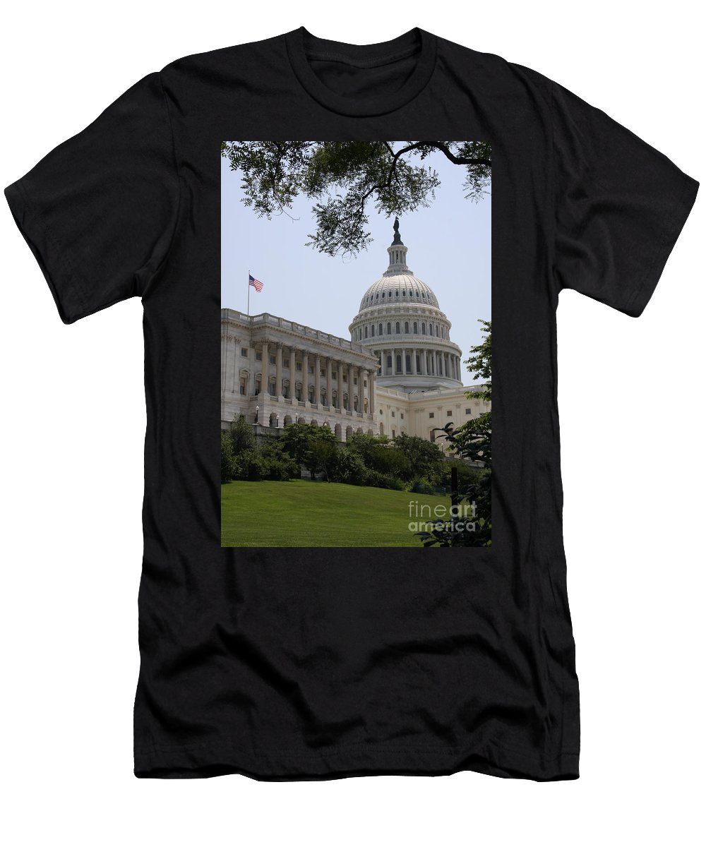 Capitol Men's T-Shirt (Athletic Fit) featuring the photograph State Capitol Washington Dc by Christiane Schulze Art And Photography