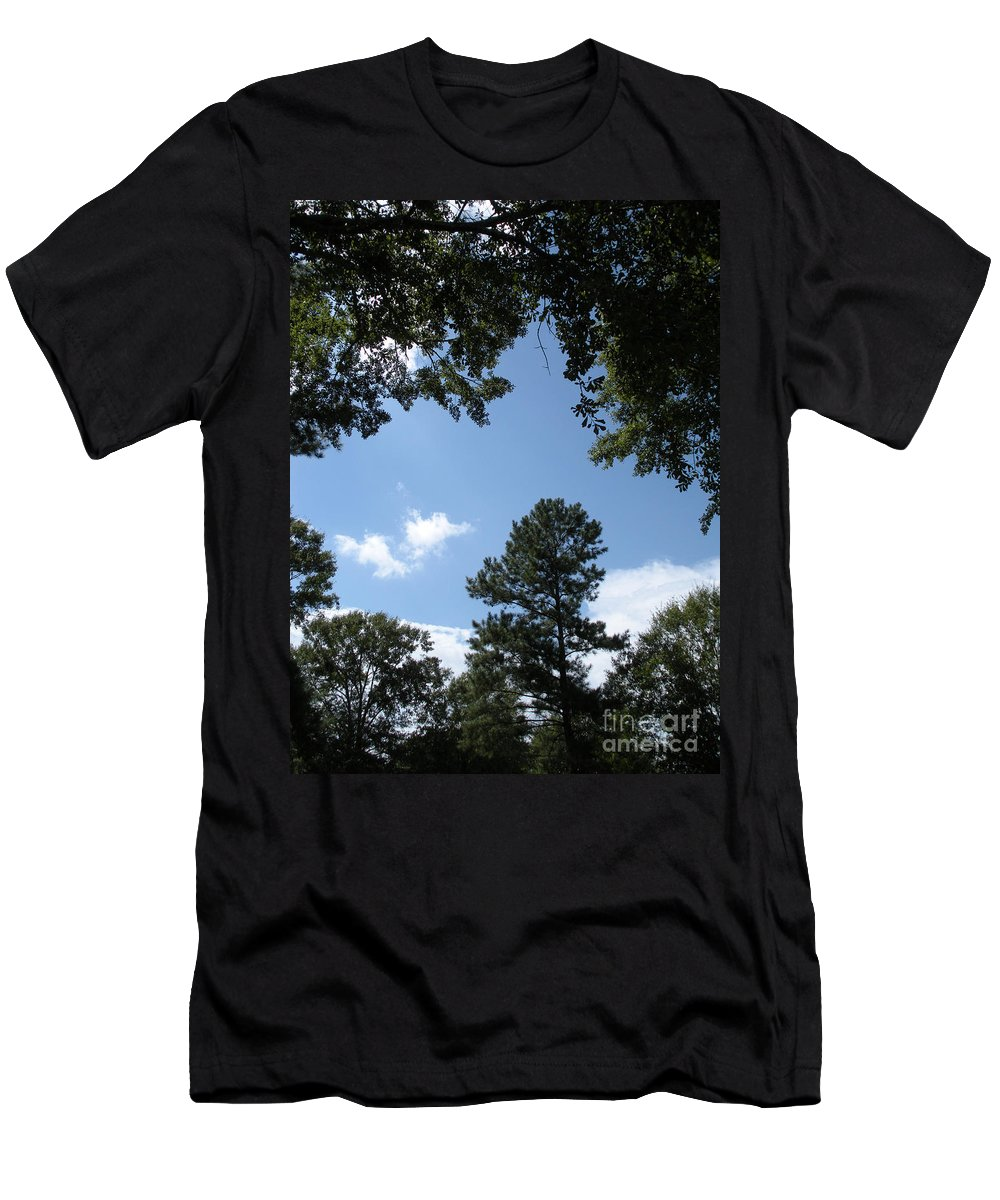 Woods Men's T-Shirt (Athletic Fit) featuring the photograph Stately Forest by Joseph Baril