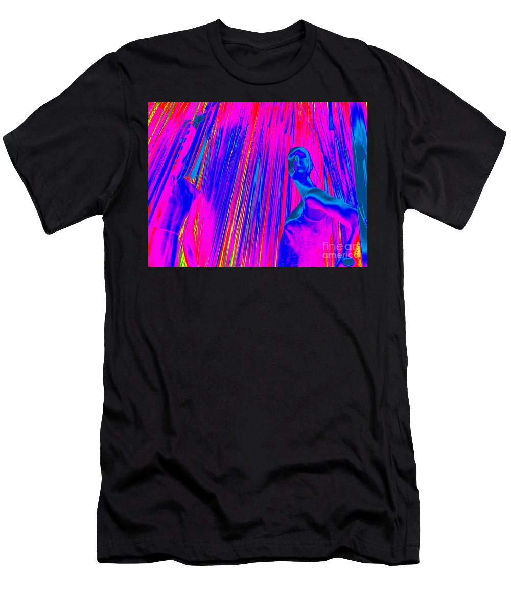 Pop Art Men's T-Shirt (Athletic Fit) featuring the digital art Stepping Out by Ed Weidman