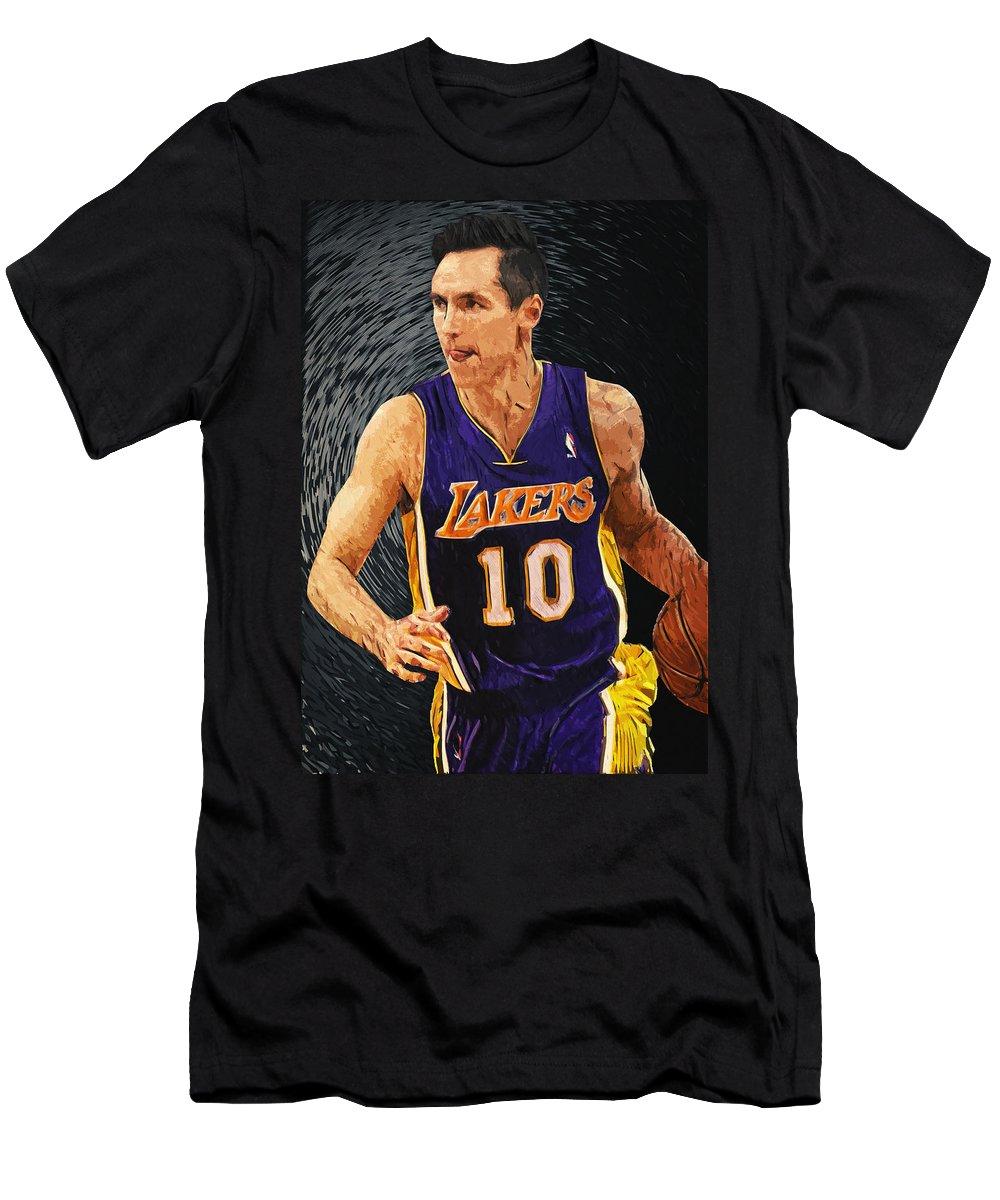 Steve Nash Men's T-Shirt (Athletic Fit) featuring the digital art Steve Nash by Zapista