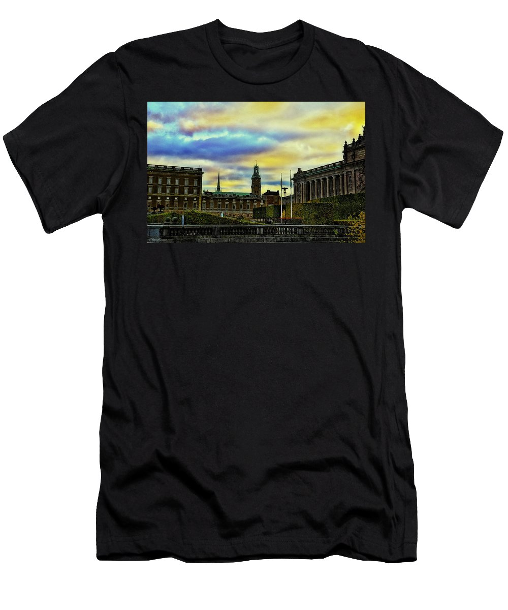Cities Men's T-Shirt (Athletic Fit) featuring the photograph Stockholm II by Ramon Martinez