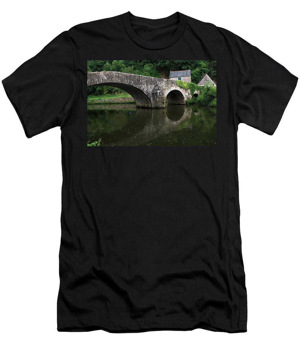 France Men's T-Shirt (Athletic Fit) featuring the photograph Stone Arch Bridge by Aidan Moran