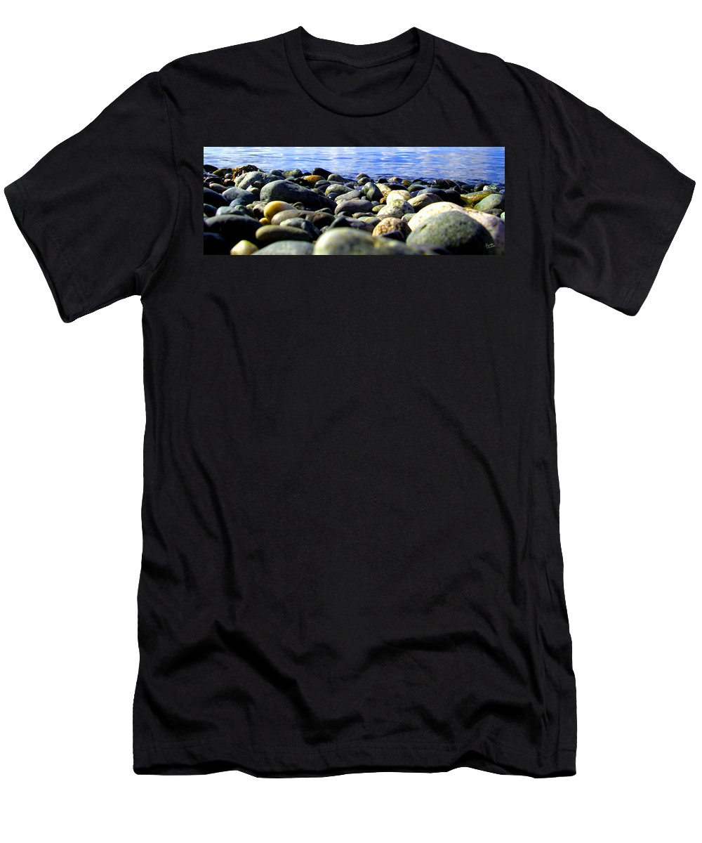 Ocean Men's T-Shirt (Athletic Fit) featuring the photograph Stones To Admire by Marcello Cicchini