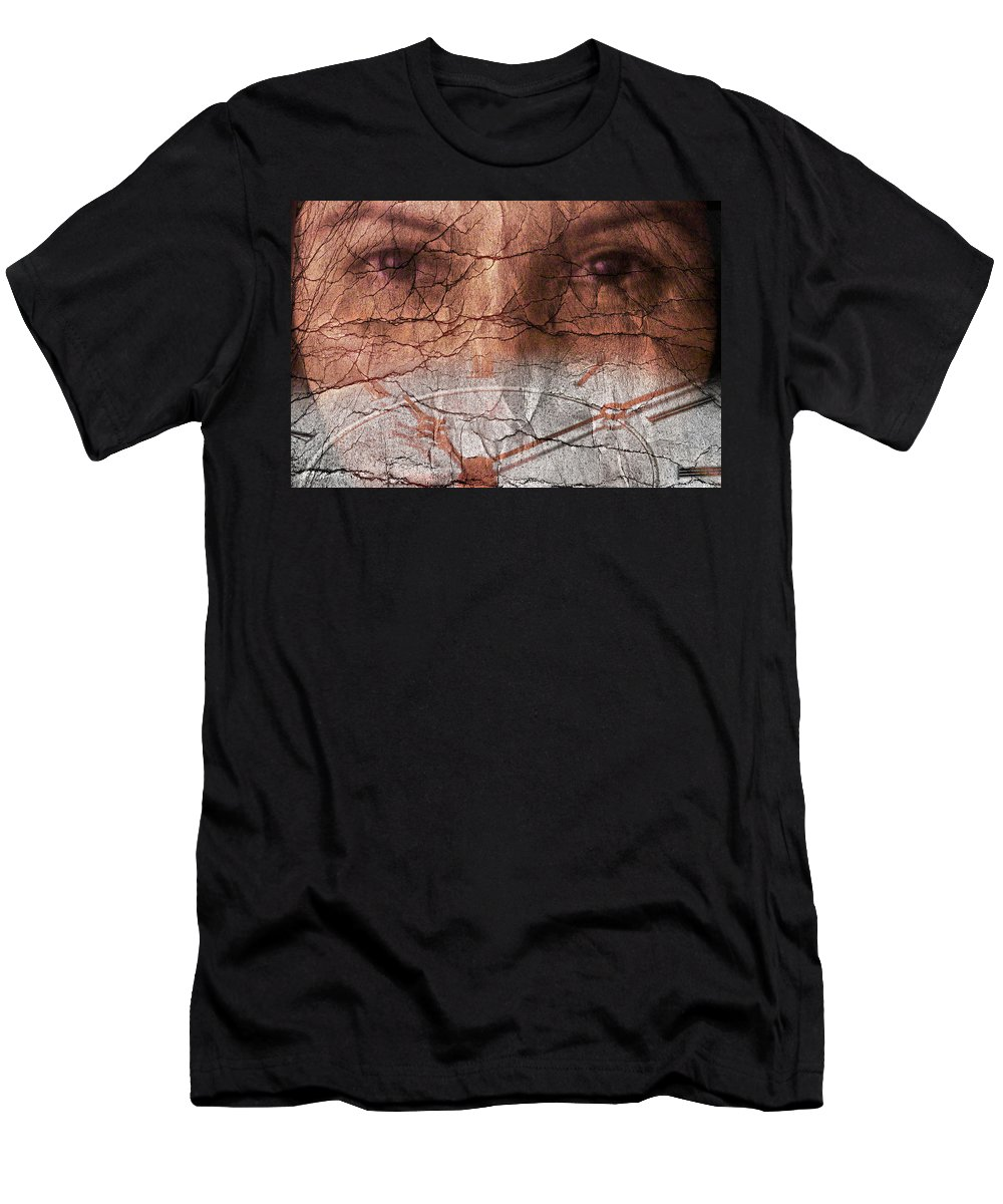 Time Men's T-Shirt (Athletic Fit) featuring the photograph Stopped Time by Agustin Uzarraga