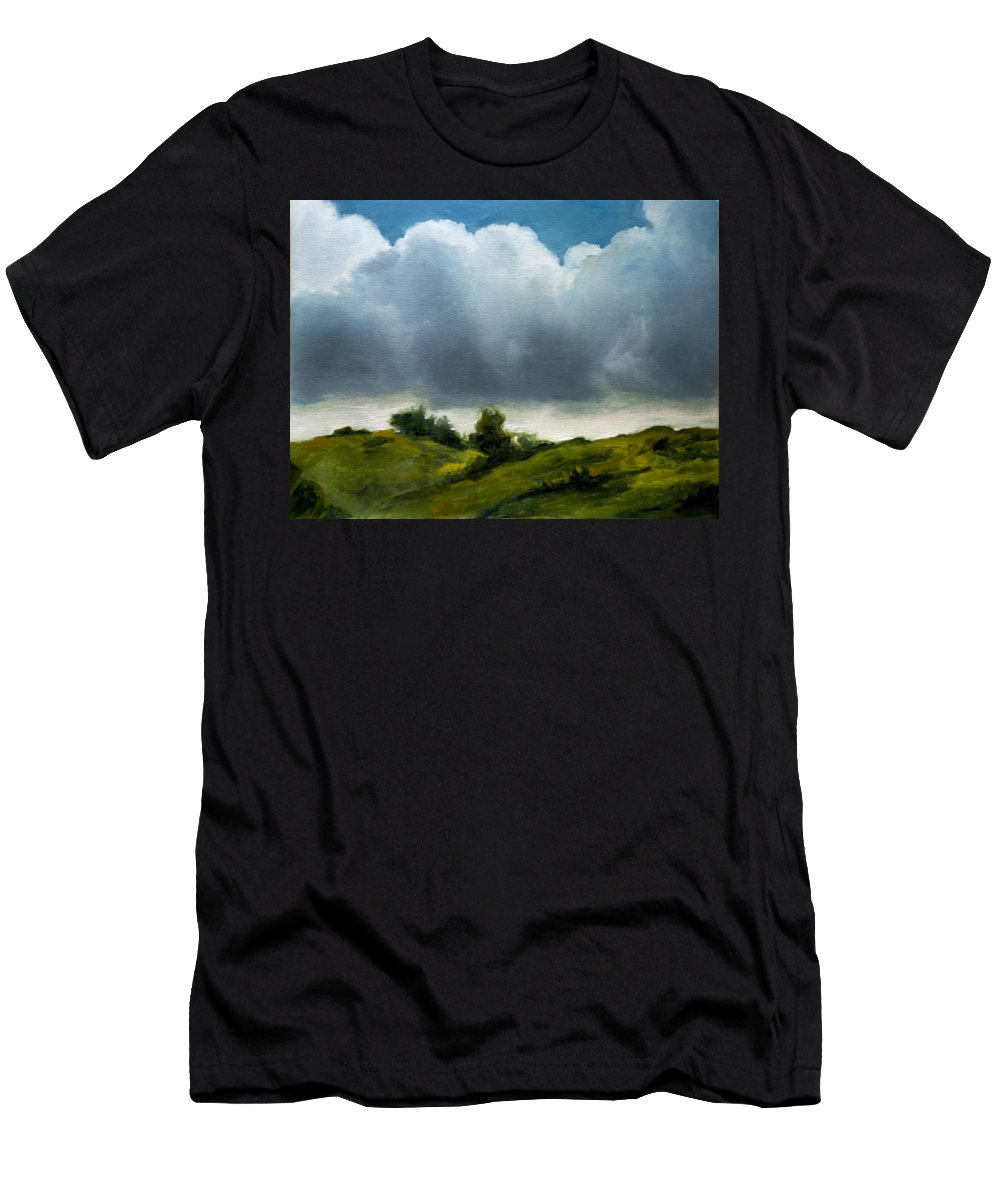 Storm Approaching Men's T-Shirt (Athletic Fit) featuring the painting Storm Approaching by Anthony Enyedy