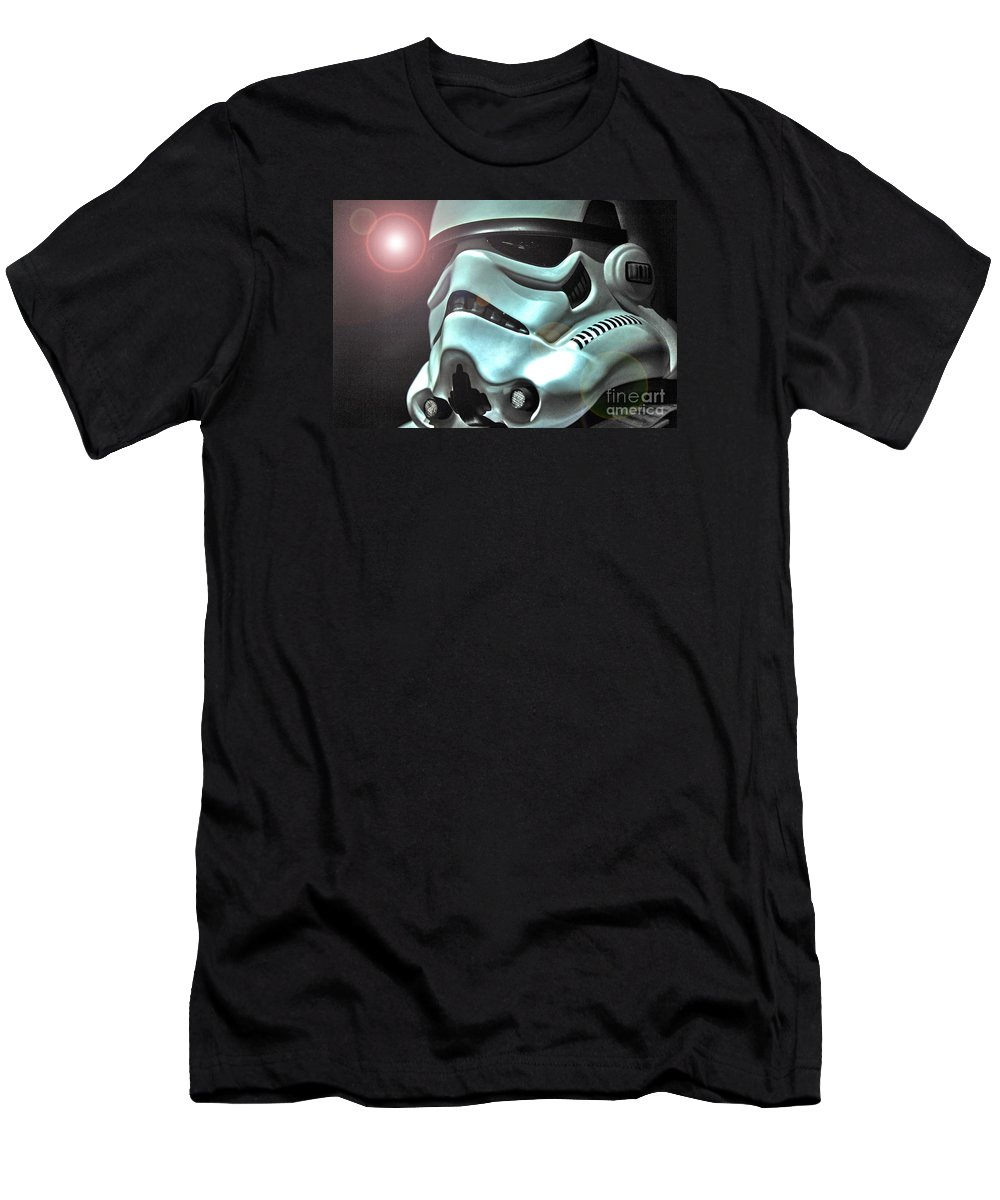 Stormtrooper Men's T-Shirt (Athletic Fit) featuring the photograph Stormtrooper Helmet 27 by Micah May