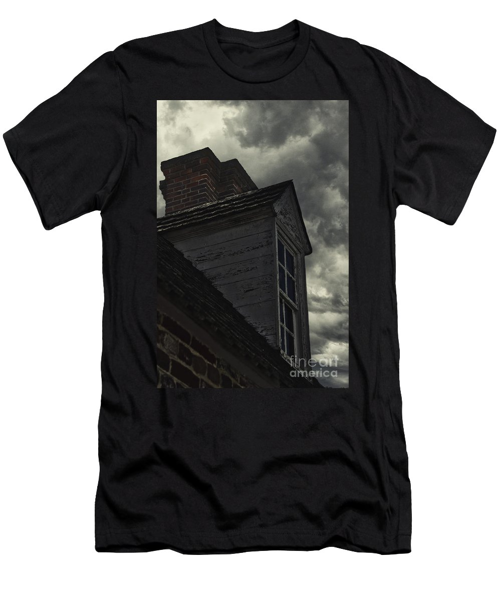 Outside Men's T-Shirt (Athletic Fit) featuring the photograph Stormy Days by Margie Hurwich
