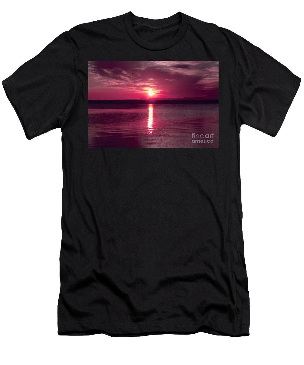 Clouds Men's T-Shirt (Athletic Fit) featuring the photograph Stormy Sunrise by William Norton