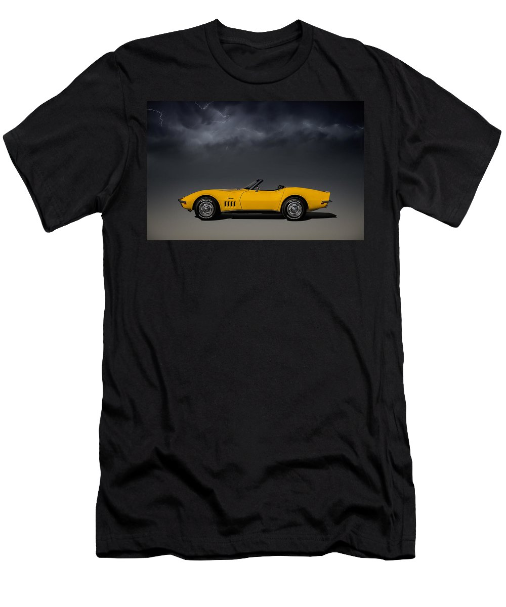 Corvette Men's T-Shirt (Athletic Fit) featuring the digital art Stormy Weather by Douglas Pittman