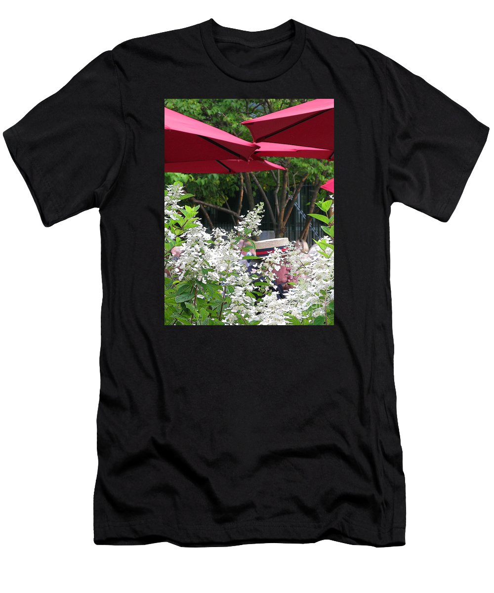 Umbrella Men's T-Shirt (Athletic Fit) featuring the photograph Straw Hat by Ann Horn