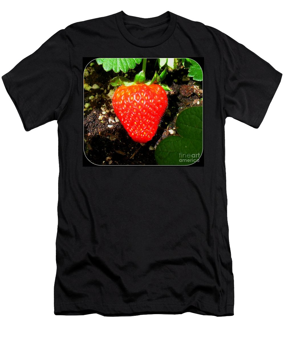 Strawberry Men's T-Shirt (Athletic Fit) featuring the photograph Strawberry by Patti Whitten