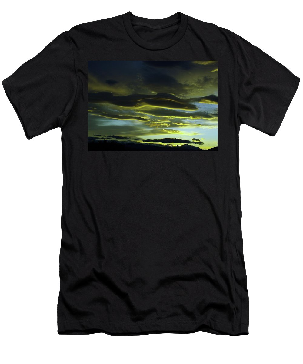 Clouds Men's T-Shirt (Athletic Fit) featuring the photograph Streaming Clouds by Jeff Swan
