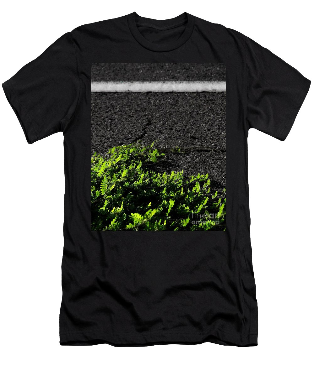 Digital Color Photo Men's T-Shirt (Athletic Fit) featuring the digital art Street Growth by Tim Richards