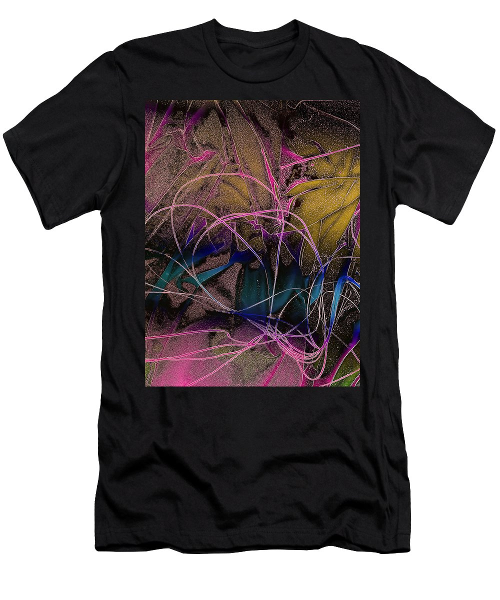 String Men's T-Shirt (Athletic Fit) featuring the photograph String And Fabric by David Pantuso