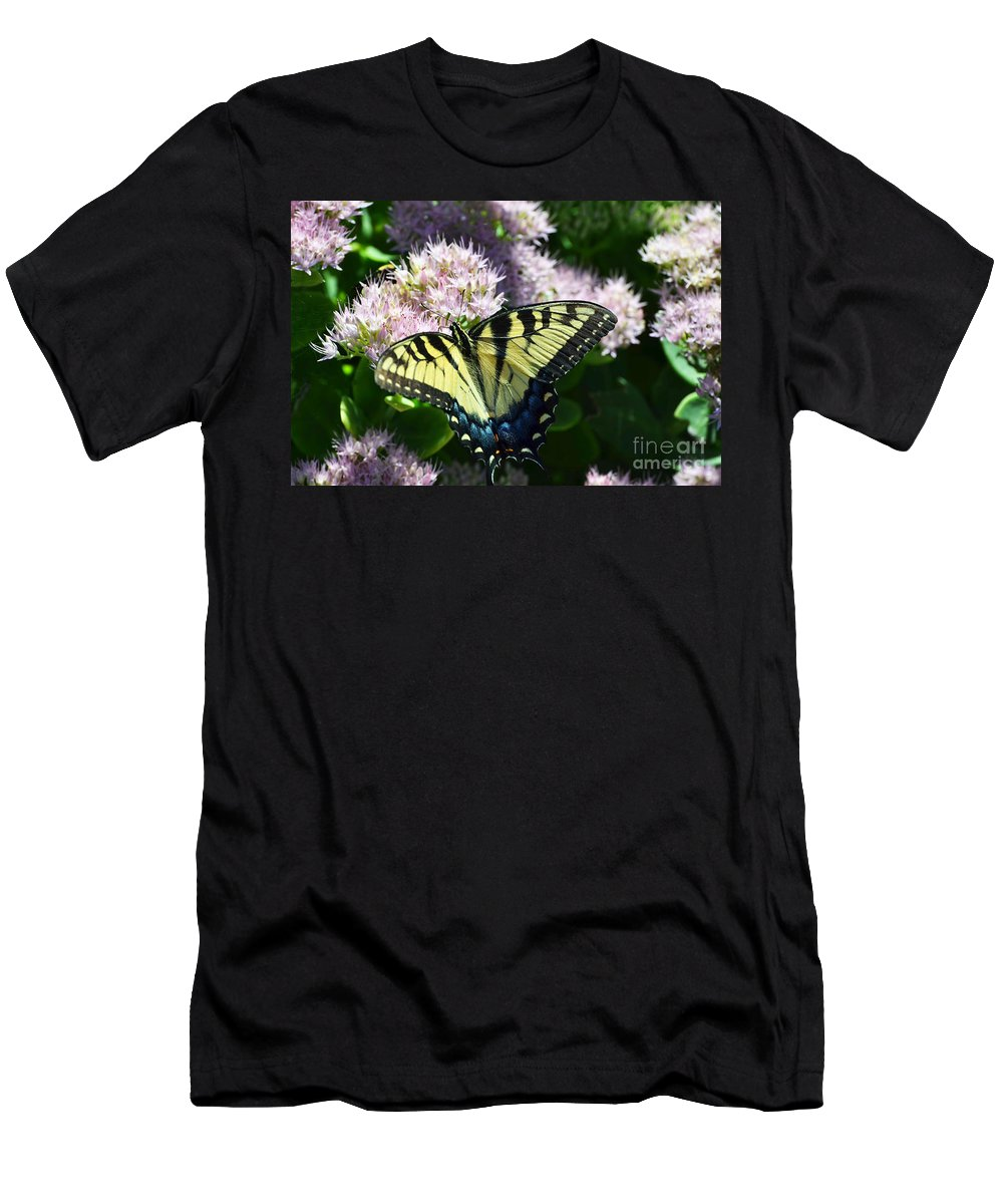 Butterfly Men's T-Shirt (Athletic Fit) featuring the photograph Succulent by Judy Wolinsky