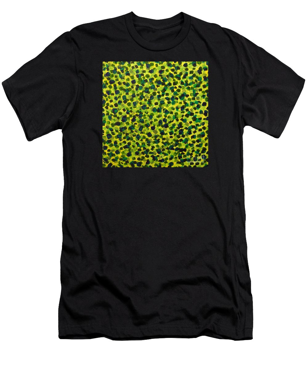 Abstract Men's T-Shirt (Athletic Fit) featuring the painting Sunlight Through The Trees 2 by Dean Triolo
