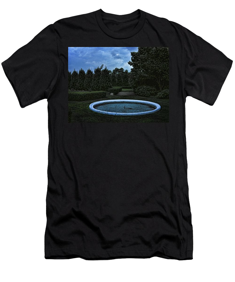 Blue Men's T-Shirt (Athletic Fit) featuring the photograph Summer Storm Coming Bahai Temple by John Hansen