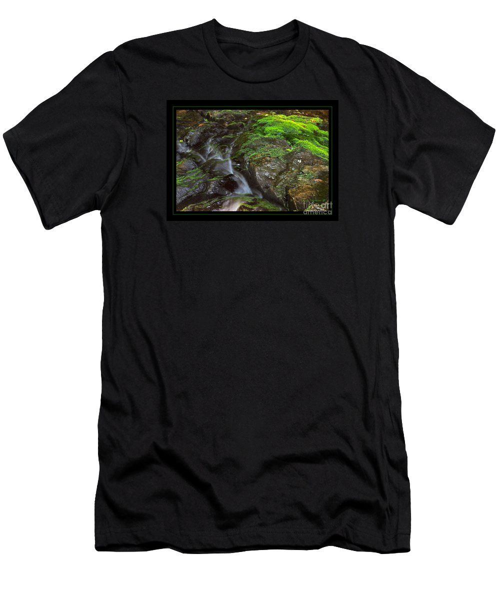 Summer Men's T-Shirt (Athletic Fit) featuring the photograph Summer Stream Waterfall by John Stephens