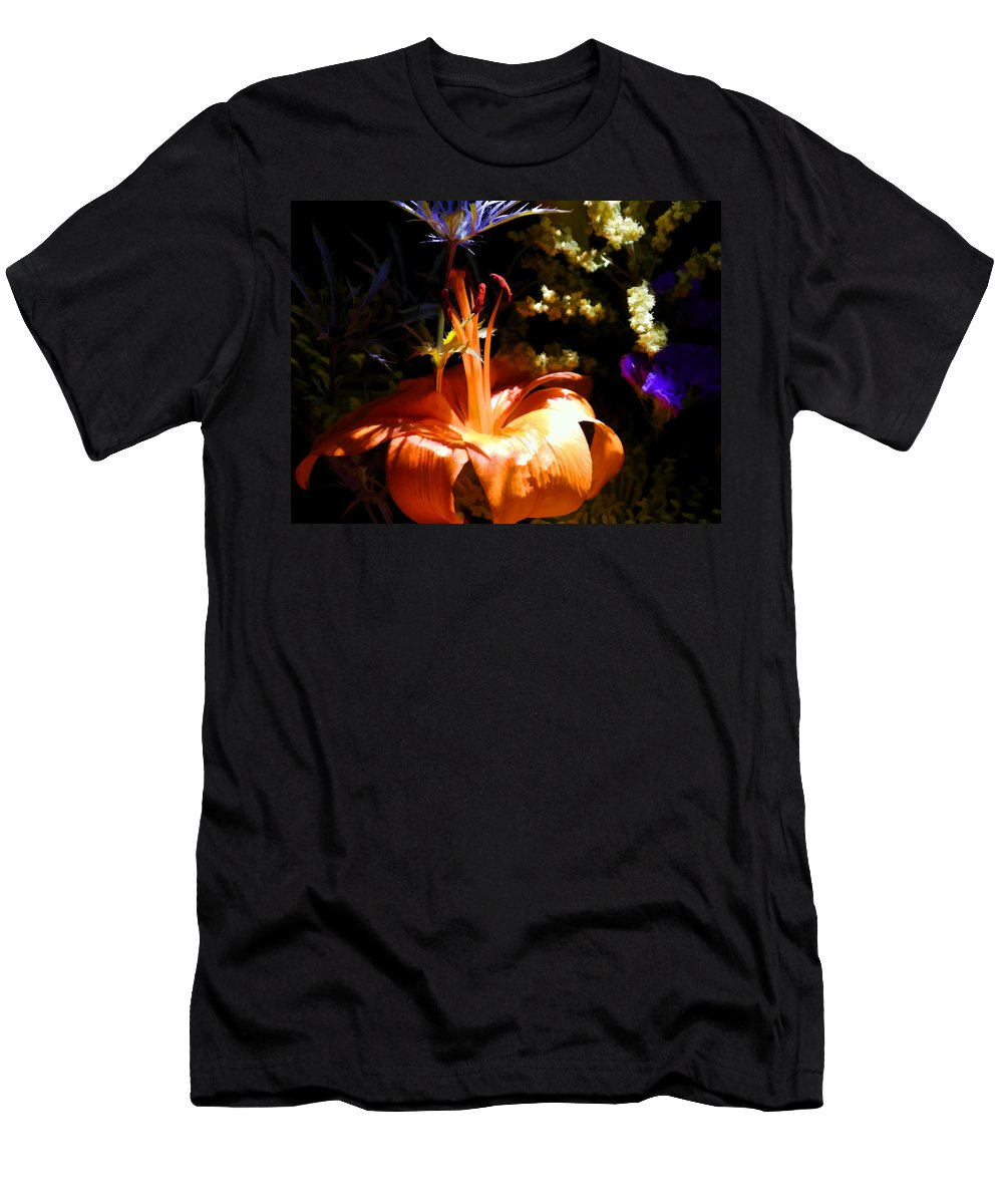 Floral Men's T-Shirt (Athletic Fit) featuring the photograph Summer's End Xiv by Tina Baxter