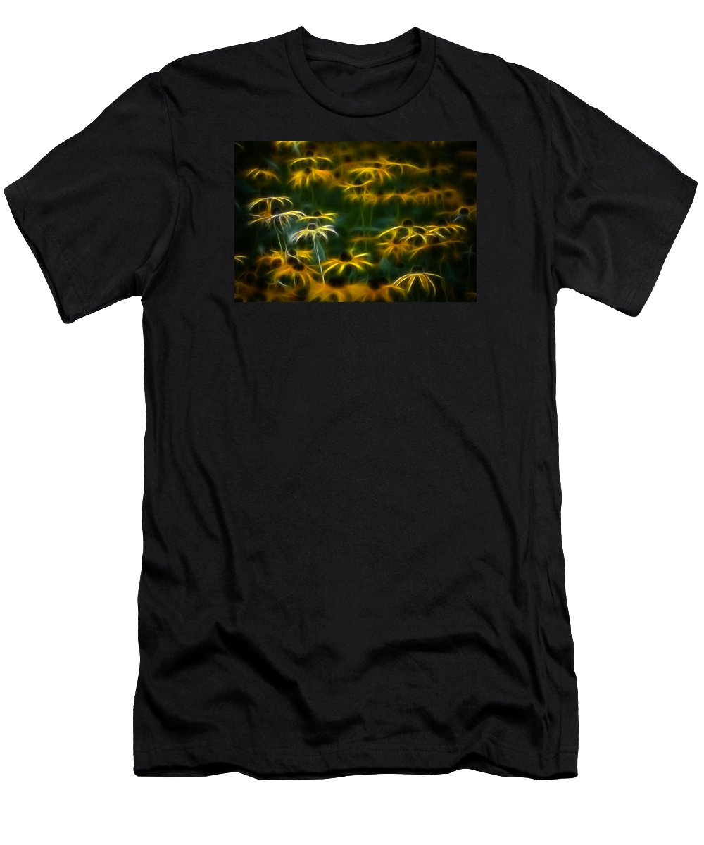 Color Men's T-Shirt (Athletic Fit) featuring the photograph Sun Dancers by Timothy Bischoff