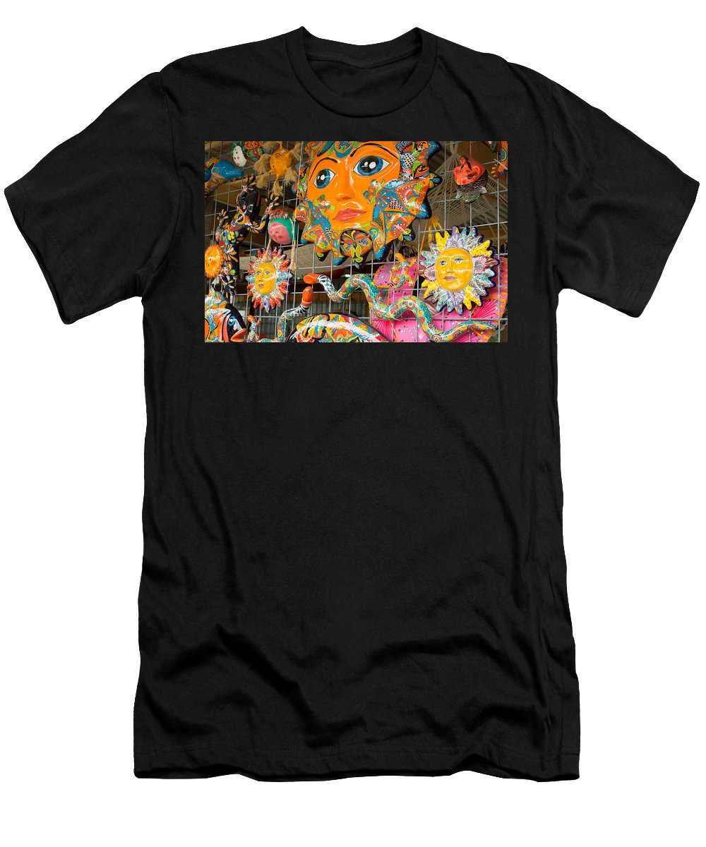 Texas Men's T-Shirt (Athletic Fit) featuring the photograph Wimberley Texas Sun Goddess And Her Court by JG Thompson