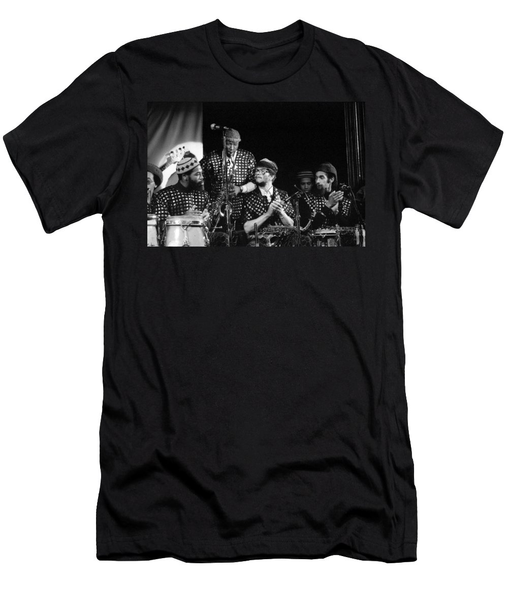 Jazz Men's T-Shirt (Athletic Fit) featuring the photograph Sun Ra Arkestra With John Gilmore by Lee Santa
